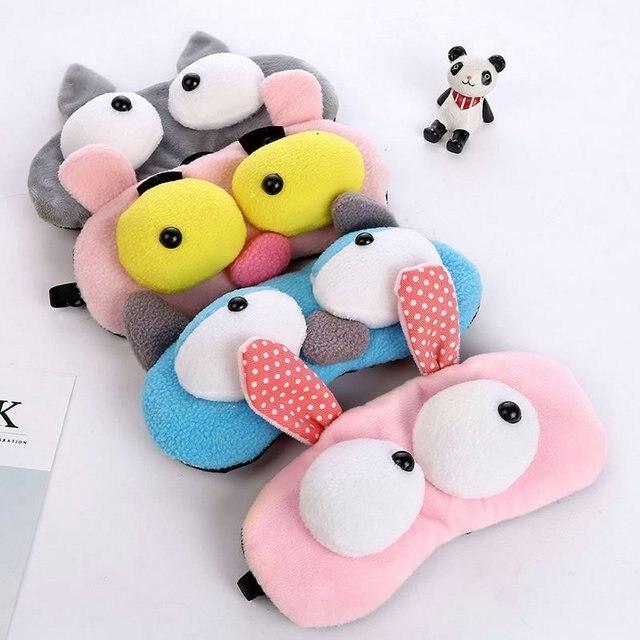 Korean Version Of Cute Cartoon Plush Big Eyes Sleep Eye Mask Rest Shading Eye Ice Pad Eye Mask Ice Mask 3