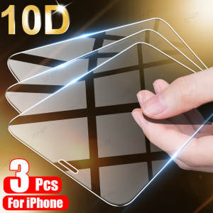 3Pcs Tempered Glass For iPhone 11 Pro XS Max X XR Full Cover Screen Protector For iPhone