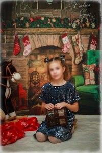 Image 4 - Capisco 실내 벽난로 메리 크리스마스 사진 배경 인쇄 크리스마스 트리 장난감 곰 선물 의자 새해 사진 배경