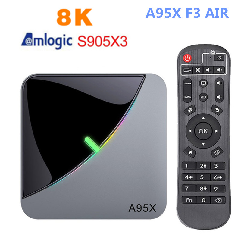 A95x f3 ar smart android 9,0 caixa de tv s905x3 4 Гб ОЗУ 64 Гб ПЗУ 5g wifi bluetooth 4,0 4 k 6 k definir o jogador