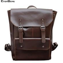 Business office Laptop Backpack Men Multifunction School bags Designer PU Leathe