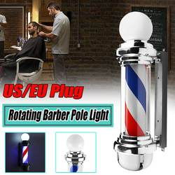 Haar Salon licht Barber Pole Led Licht Rotierenden licht lampe mit Birne Marker lampe LED Downlights 68x19x24cm 220V EU/110 V UNS Stecker