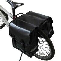 Saco traseiro da bicicleta à prova dwaterproof água pannier bicicleta traseira da cauda do assento tronco saco de rack bycicle|Cestos e bolsas p/ bicicleta| |  -