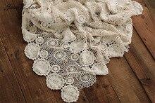 Jane Z Ann tissu magique en dentelle ajourée, couverture de fond en coton, 2 tailles, remplisseuse de paniers, accessoires de photographie pour nouveau né