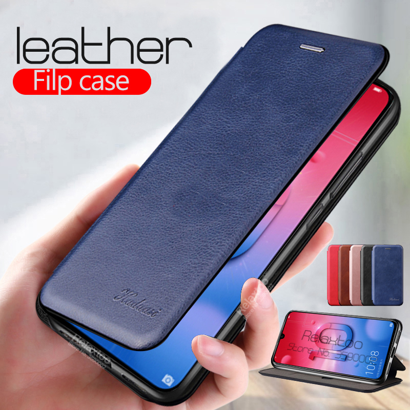 leather Flip Magnetic case For huawei honor 10 lite 9 light 10i 9x 9a 9c 9s 20 nova 5T p30 p20 p40 pro P smart 2019 phone Cover(China)