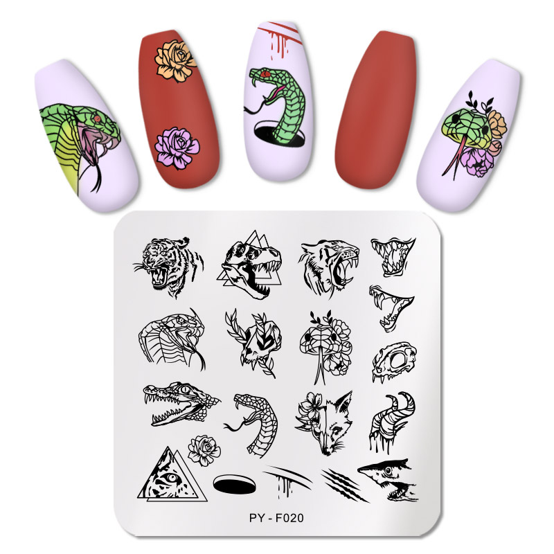 PICT You Animals Series Nail Stamping Plates Stainless Steel Nail Art Stamp Plate Design Stencil Tools DIY Nail Art Plate