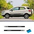 2 шт. виниловые наклейки с автополосками для автомобильных дверей  графические наклейки для Ford Ecosport  Стайлинг автомобиля