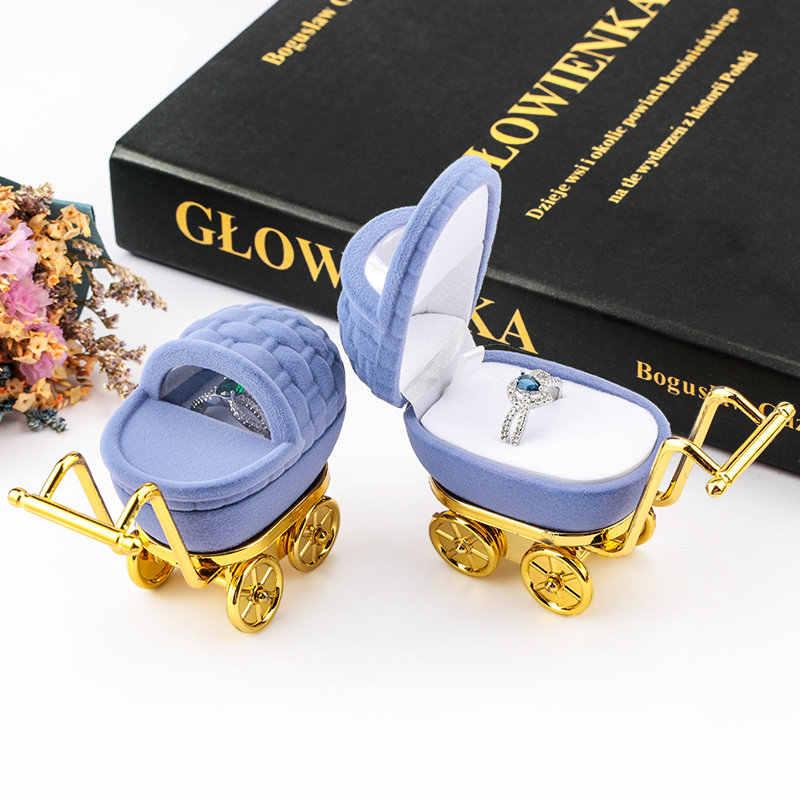 1 חתיכה יפה קטיפה תכשיטי תיבת מיכל חתונה תיבת טבעת עגילי שרשרת צמיד תצוגת אריזת מתנה מחזיק 16 סגנונות