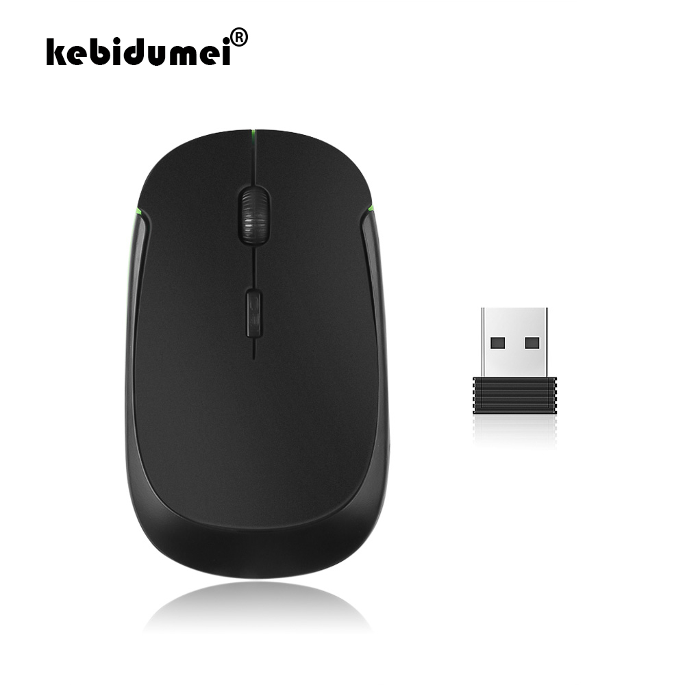 Working Distance up to 10 Meters Wireless Mice Computers Mice 2.4GHz Wireless Mini Optical Mouse with USB Mini Receiver Red Plug and Play Color : Black