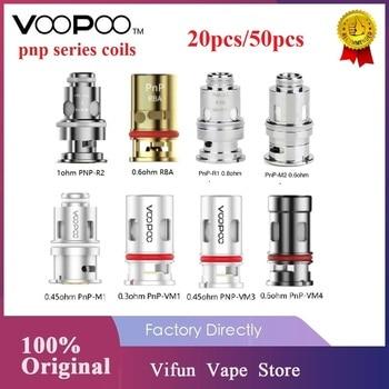 Original VOOPOO PnP bobinas 0.3ohm/0,8 ohm de malla de bobina/0.6ohm RBA bobina para VOOPOO VINCI R/ Vinci X / VINCI Mod Pod Kit de Vape bobina