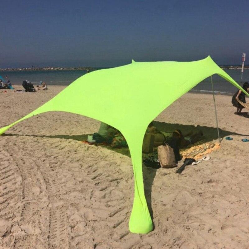 210 × 210Cm plage extérieure Kale auvent ombre tente Camping Cool crème solaire Uv auvent Portable Camping pêche tente - 4