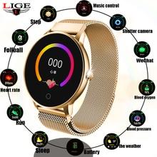 LIGE Smart Sport Watch  Women Waterproof Fitness Smartwatch Blood Pressure Heart Rate Monitor Pedometer Smart Watch Men For IOS все цены