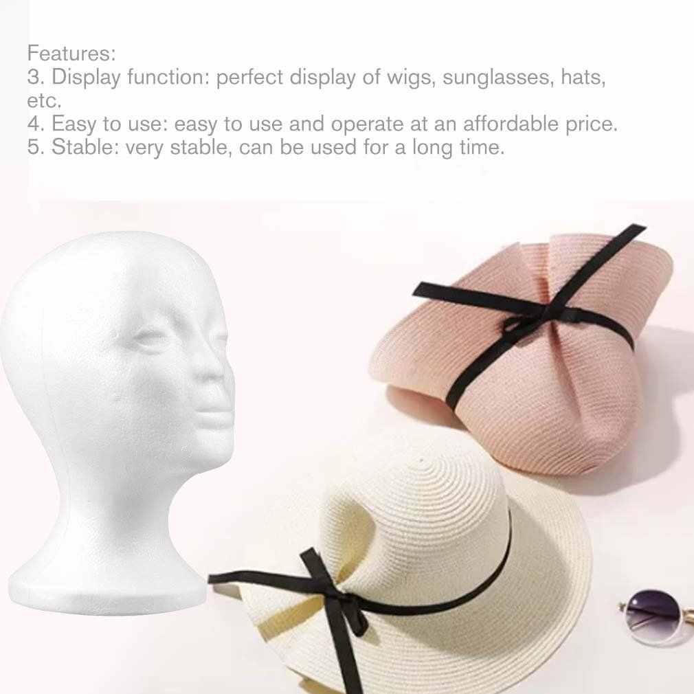 2017 新 1 pc 耐久性のあるホワイト女性発泡スチロールマネキンマネキン頭部モデル泡毛メガネディスプレイメガネ帽子ディスプレイスタンド
