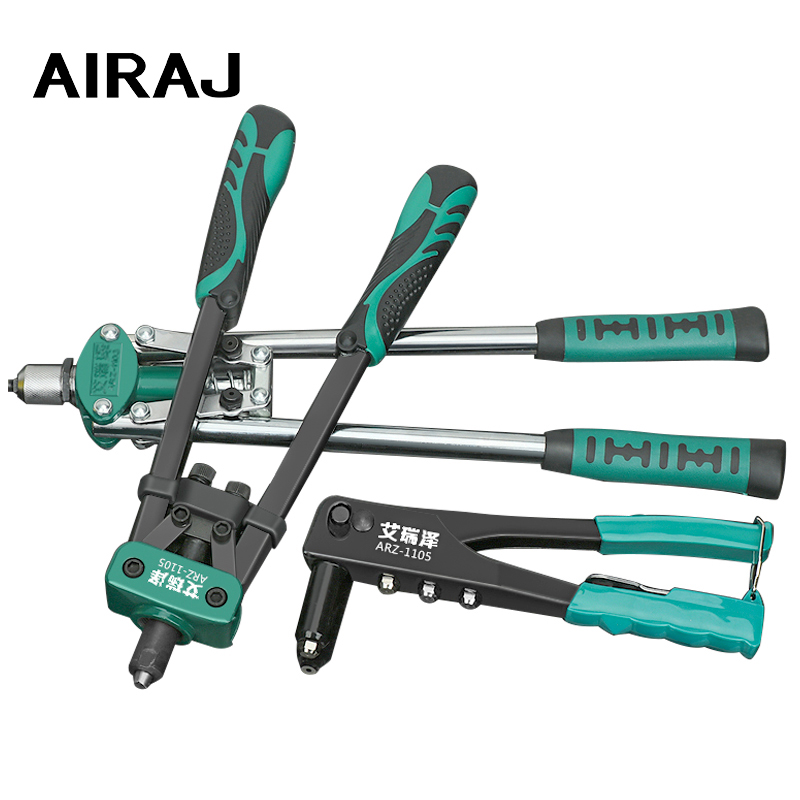 AIRAJ 16 Inch Hand Riveters Double Handles Nail Gun M3.2 M4.0 M4.8 Industrial Riveting Tools Free Shipping