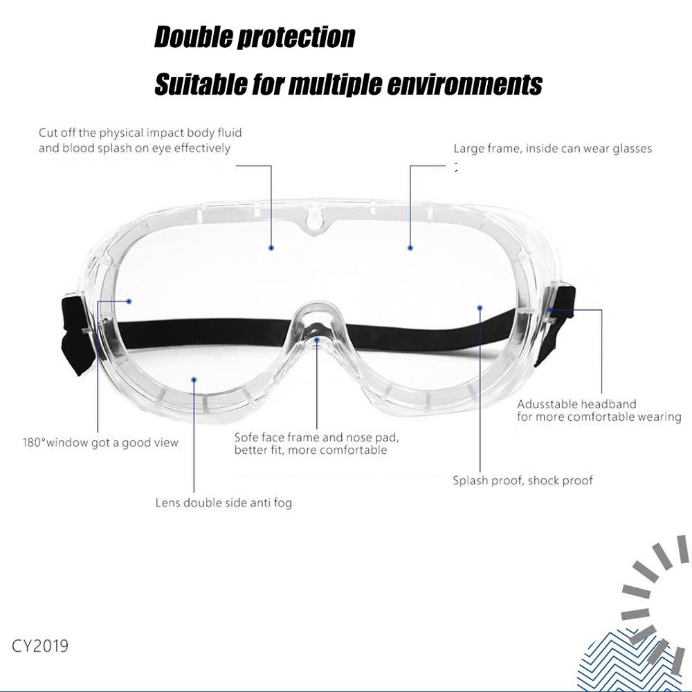Medical Goggles Protection For Classroom Home Workplace Prevent The Impact Of Dust Droplets Medical Eye Mask,Safety Goggles