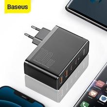 Baseus 100w gan usb carregador rápido qc 3.0 pd usb tipo c carga de carregamento rápido para iphone 12 pro max 8 macbook xiaomi telefone carregador