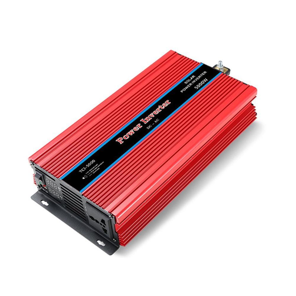 Doppio Display Inverter di Potenza per Auto USB del Convertitore Del Caricatore Adapter Onda Sinusoidale Modificata 3000/4000/5000/6000W