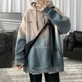 Толстовка мужская с капюшоном, свитшот с градиентами, корейский стиль, Повседневная Уличная одежда, осень-зима 2021