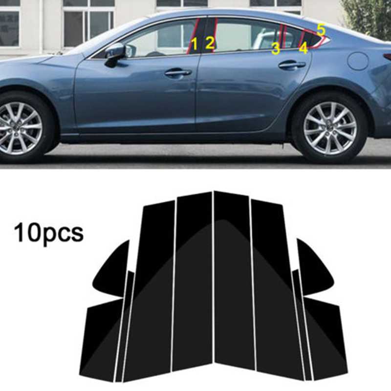 4PCS Stainless Door Body Side Molding Cove Trim For Mazda 6 Atenza 2017 2018