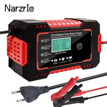 Car Battery Charger 12v 6A Pulse Repair LCD Display Smart Charge AGM Deep Cycle GEL Lead-Acid Automatic Fast Power Charging New