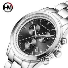 Новые мужские часы Топ бренд класса люкс Дата Календарь тройной