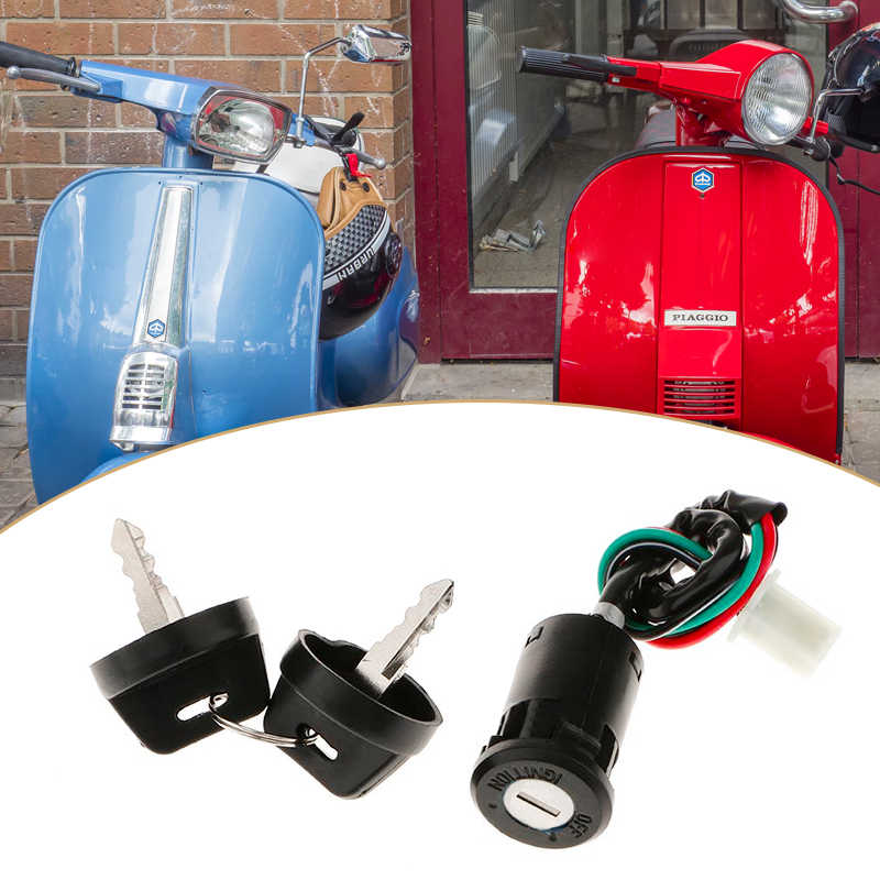 Interruptor de ignição da motocicleta, interruptor de ignição e chave para 50/70/110/125/150cc scooter atv go kart acessórios quad honda para yamaha ktm etc