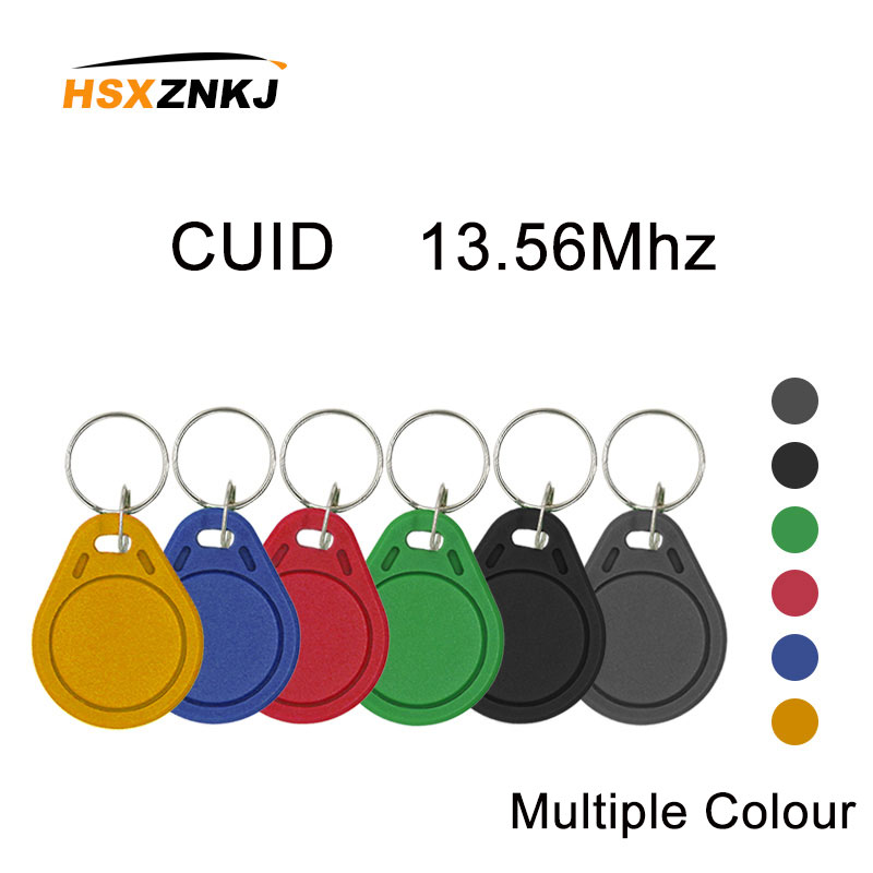 100Pcs Keyfobs Token Label S50 13.5MHZ CUID Card Changed MF S50 1K IC Keychain NFC Replica Copy Block 0 Can Write 14443A Tag