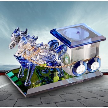 Car Perfume Decoration Home Accessories Car Accessories Crystal Horse Perfume Holder for Car Car Mounted Car Aromatherapy