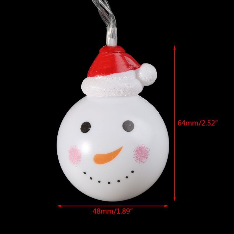 Warm White Christmas Snowman LED String Lights Indoor Party Decoration Lamps