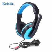 Kebidu מיני סטריאו אוזניות מלא טווח משחקי סטריאו אוזניות 3.5mm מחשב מחשב גיימרים אוזניות עם מיקרופונים למוסיקה