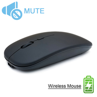 Wireless Computer Mouse Silent PC Mause Rechargeable Ergonomic Mouse 2.4Ghz USB Optical Mice For Laptop PC Mice     -