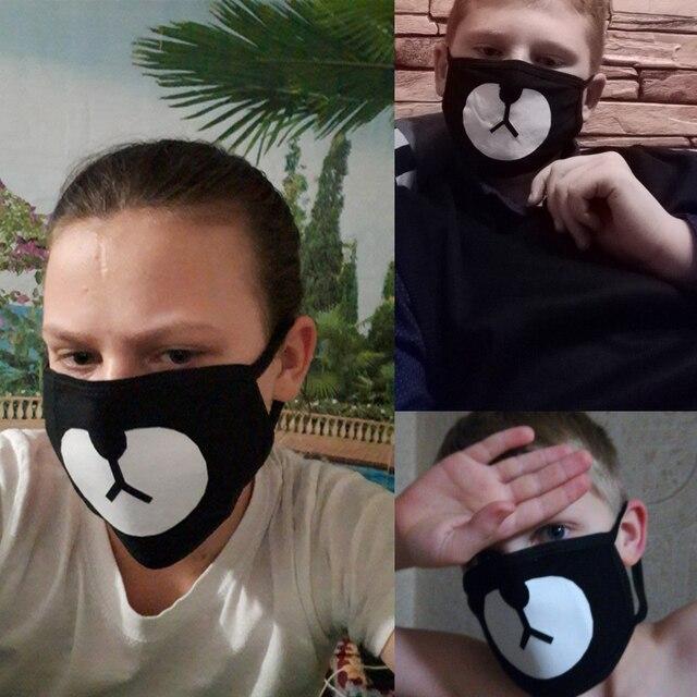 ALLKPOPER KPOP Unisex Cute Anime Cartoon Bear Mouth Mask Kawaii Face Mask Winter warm Cotton Funny Facial Masks K-pop mondkapjes 5