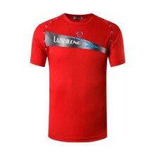 jeansian Mens Sport Tee Shirt Tshirt T-Shirt Tops Running Gym Fitness Workout Football Short Sleeve Dry Fit LSL122 Red