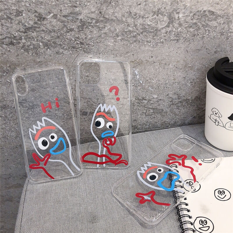 <font><b>Toy</b></font> <font><b>Story</b></font> Forky funny soft case for <font><b>iPhone</b></font> 6SPlus 7 8 6 S Plus <font><b>coque</b></font> <font><b>iPhone</b></font> 11 Pro X XS MAX <font><b>XR</b></font> 10 cartoon avater clear case cute image