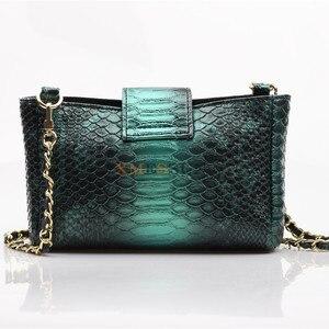 Image 4 - Женская сумка через плечо XMESSUN, модная дизайнерская сумка из кожи питона с тиснением, 2020