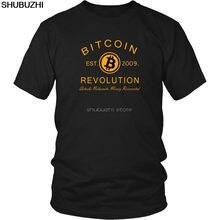 BITCOIN революция Футболка-BITCOIN крипто рубашка-криптовалюта футболка классная повседневные мужские футболки унисекс модная sbz6105