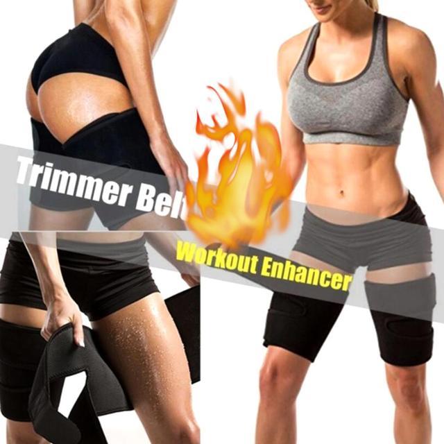 2pcs Fitness Leggings Belt Leg Shaper Sauna Sweat Thigh Trimmers Calories off Slimming Legs Fat Thermo Neoprene Compress Belt 1