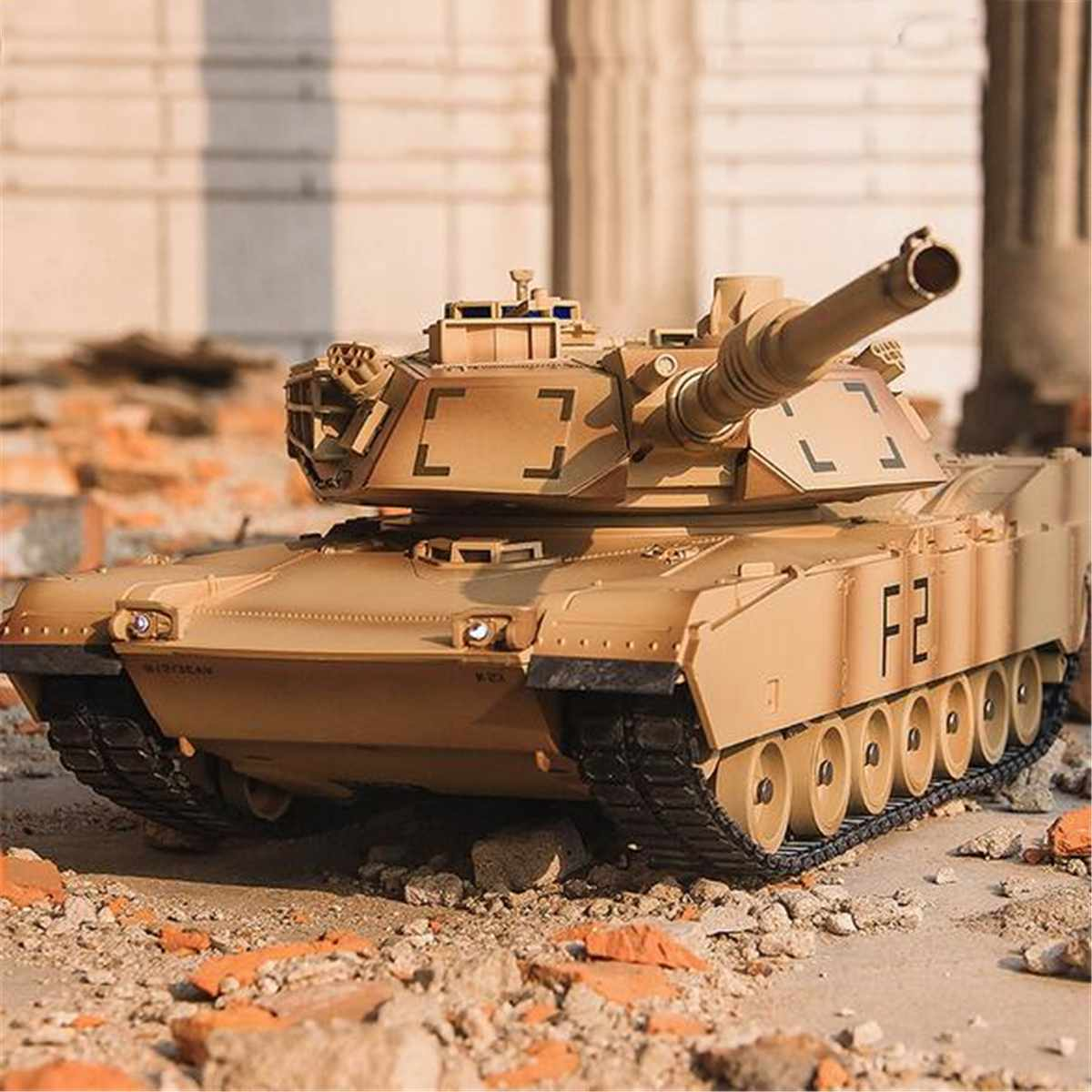 RC Tank M1A2 Abrams USA Israel Tactical Vehicle Main Battle Military Main Battle Tank Model Sound Electronic Toys Remote Control
