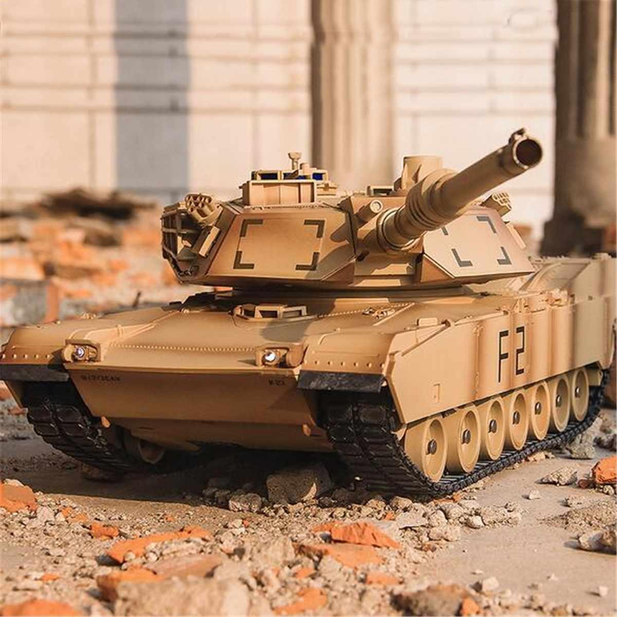 RC Tank M1A2 Abrams USA israël véhicule tactique bataille principale militaire Main bataille réservoir modèle son jouets électroniques télécommande