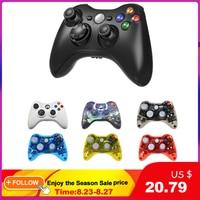 Supporto Wireless o cablato Controller Bluetooth per Xbox 360 Gamepad Joystick per X box 360 Jogos Controle Win7/8/10 PC Joypad