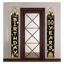 Aniversário fundo decoração 30 40 50 60 aniversário decoração adulto 30th 40th 50th festa de aniversário suprimentos 30 anos aniversário