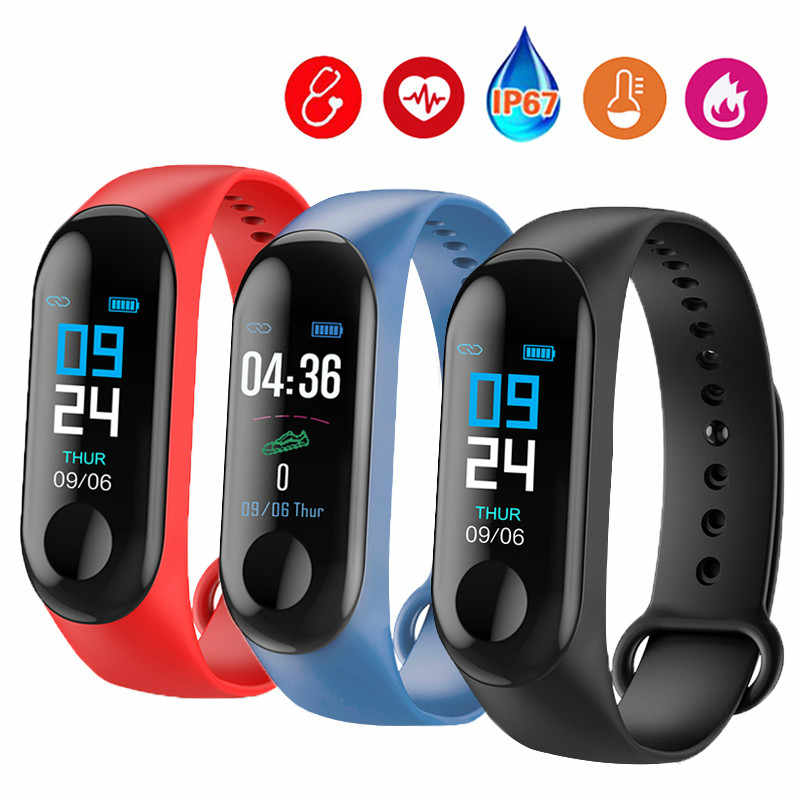 M3 Smart Armband Bluetooth Sport Horloge Smart Band Bloeddruk Waterdicht Hartslag Fitness Pols Band Horloge Voor Android Ios