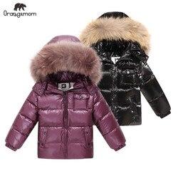 Бренд orangemom/2019 г. Зимняя детская одежда, куртки, пальто детская одежда, верхняя одежда, пальто куртка для мальчиков и девочек на белом утином ...