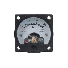 1PC SO-45-A 20A 30A 50A 100A/75mV DC Analog Meter Panel Gauge DC Ammeter Use with Shunt Current Meter 47*47MM Round Ammeter