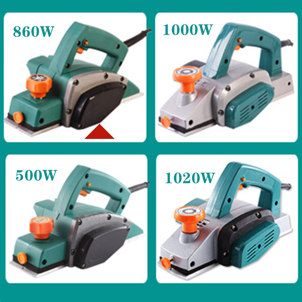 860W Portable Electric Planer Carpenter Household Multi-function Electric Planer Planer Woodworking Tool Electric Tool