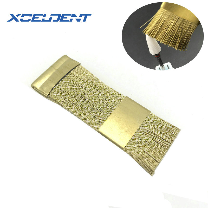1Pc Dental Nail Drill Bits Cleaning Brush Copper Wire Brushes For Electric Manicure Brusher
