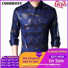 COODRONY marka koszula męska bawełniana koszula z długim rękawem mężczyźni jesień sukienka męskie koszule na co dzień Streetwear moda Camisa Masculina 96068