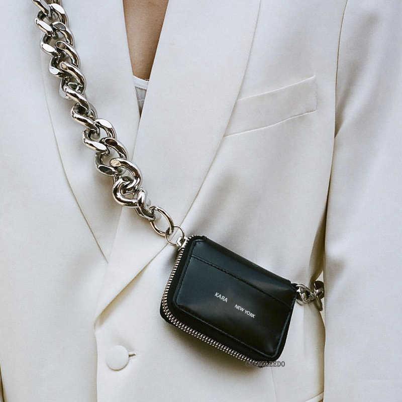 Di lusso Delle Donne Borsoni ins stile caldo di spessore tracolla a catena in metallo del sacchetto della bici del raccoglitore mini borsa della moneta del sacchetto di Modo pacchetto della cassa cinghia di Frizione