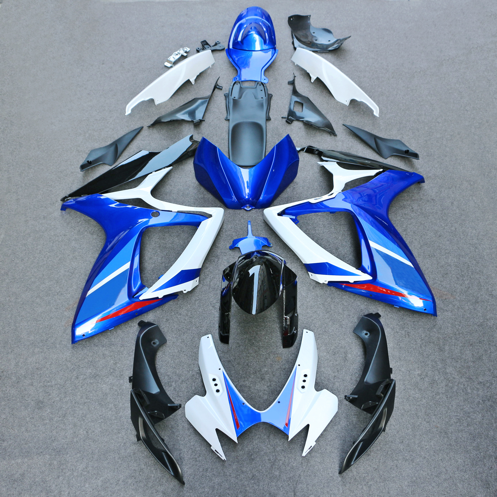 <font><b>fairings</b></font> for SUZUKI <font><b>GSXR</b></font> <font><b>600</b></font> 750 K6 K7 2006 <font><b>2007</b></font> matte black blue white <font><b>fairing</b></font> <font><b>kit</b></font> GSXR600 GSXR750 06 07 image