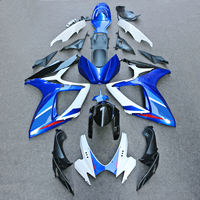 fairings for SUZUKI GSXR 600 750 K6 K7 2006 2007 matte black blue white fairing kit GSXR600 GSXR750 06 07